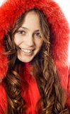 Teen girl wearing winter coat Stock Photo