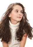 Teen girl on white Royalty Free Stock Photography