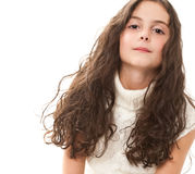 Teen girl on white Royalty Free Stock Image