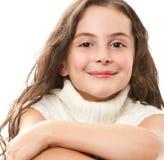 Teen girl on white. Portrait of teen girl isolated on white Royalty Free Stock Image