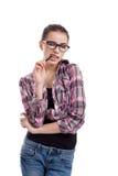 Teen girl winking Stock Images
