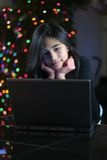 Teen girl working on the laptop 7 Royalty Free Stock Photos