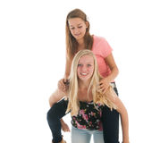 Teen girlfriends have fun Royalty Free Stock Image