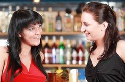 Teen girls at bar Stock Photo