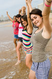 Teen girls on beach Stock Image