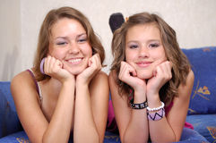 Teen Girls Having Fun Stock Photo