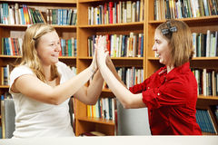 Teen Girls High Five Royalty Free Stock Photography