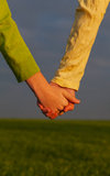 Teen girls holding hands Stock Photography