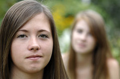 Teen girls outdoors Stock Photography