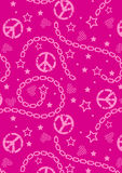 Teen girls pink pattern. Royalty Free Stock Image