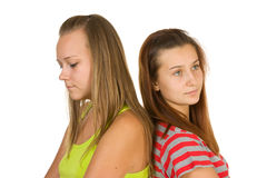 Teen girls quarreled Stock Photos