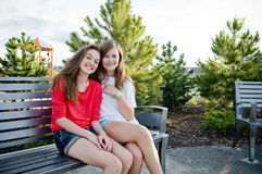 Teen girls smilling Stock Photography