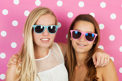 Teen girls summer holidays Royalty Free Stock Photography