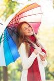 Teen girlwith umbrella Stock Photography