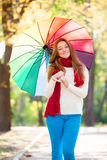 Teen girlwith umbrella Stock Photos