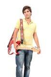 teen gitarrist Royaltyfri Bild