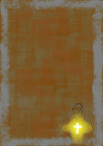 Teen Glowing Cross Background Stock Image