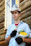 Young house painter Stock Photo