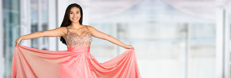 Teen Going To Prom. Teen girl going to her prom or dance Royalty Free Stock Images