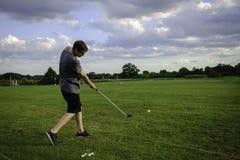 Teen Golf Swing Stock Image