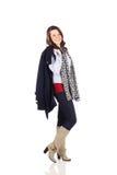 Teen with good fashion sense. On a white background Stock Photo
