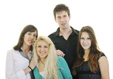 Teen group isolate Royalty Free Stock Image