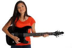Teen Guitar Player Royalty Free Stock Photo