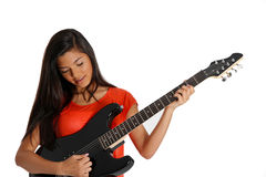 Teen Guitar Player Royalty Free Stock Images