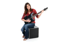 Teen Guitar Player Stock Photography