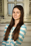 Teen härlig brunett Royaltyfri Foto