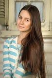 Teen härlig brunett Royaltyfria Bilder