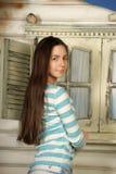 Teen härlig brunett Fotografering för Bildbyråer