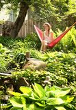 Teen in a hammock Royalty Free Stock Image