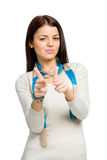 Teen hand guns gesturing Stock Image