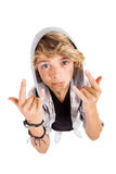 Teen hand sign Stock Photography