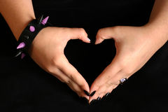 Teen hands. If you use this image, I would love to see a sample of your work Royalty Free Stock Images