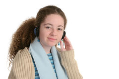 Teen With Headphones Royalty Free Stock Photos