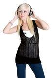 Teen Headphones Girl Royalty Free Stock Images