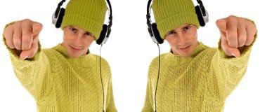 Teen headset Stock Photography