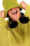 Teen headset Royalty Free Stock Image