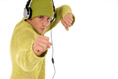 Teen headset Stock Photography