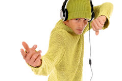 Teen headset Royalty Free Stock Image