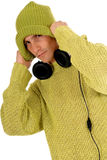 Teen headset Royalty Free Stock Images