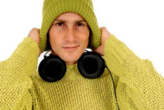 Teen headset Stock Images