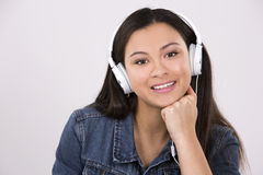 Teen and headset Stock Photo