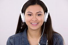 Teen and headset Stock Photography