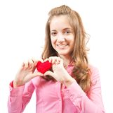 Teen with heart Stock Photography