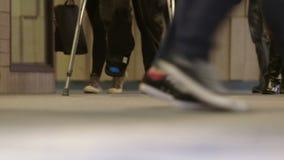 Teen high school students walking in hallway Royalty Free Stock Photography