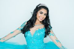 Beauty Pageant Queen. Teen hispanic girl competing in a beauty pageant Stock Image