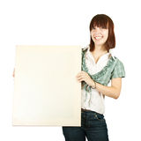 Teen holding banner Royalty Free Stock Photos